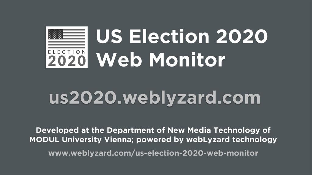 US Election 2020 Web Monitor us2020.weblyzard.c...