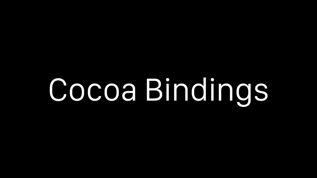 Cocoa Bindings