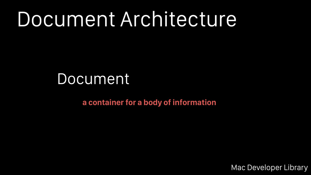 Document Architecture Mac Developer Library a c...