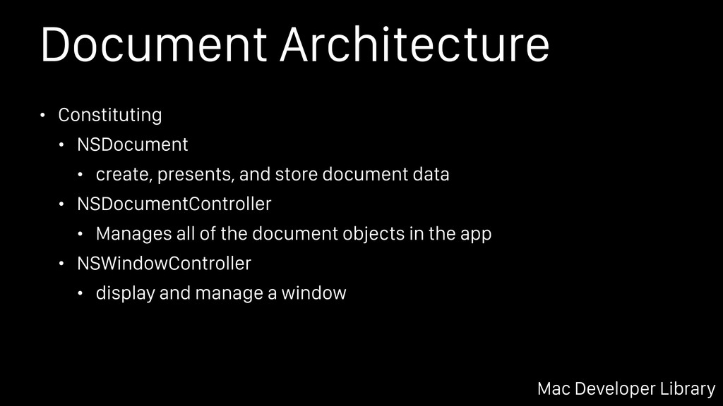 Document Architecture • Constituting • NSDocume...