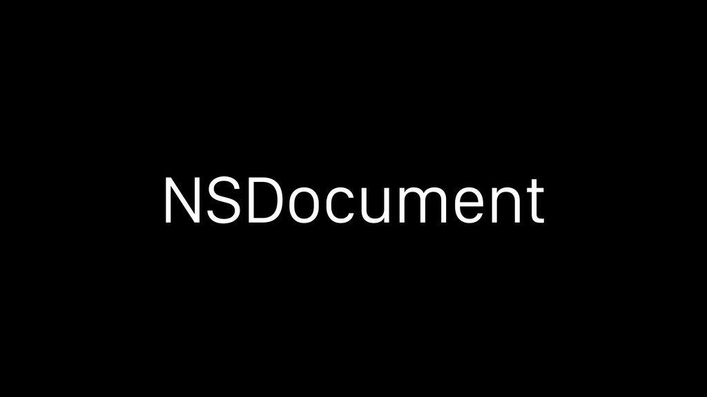 NSDocument