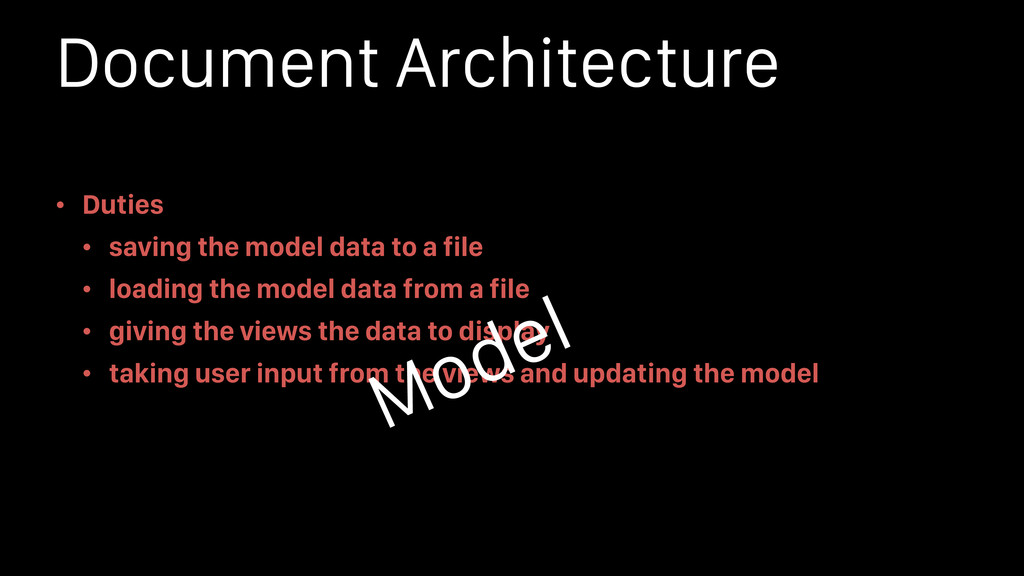 Document Architecture • Duties • saving the mod...