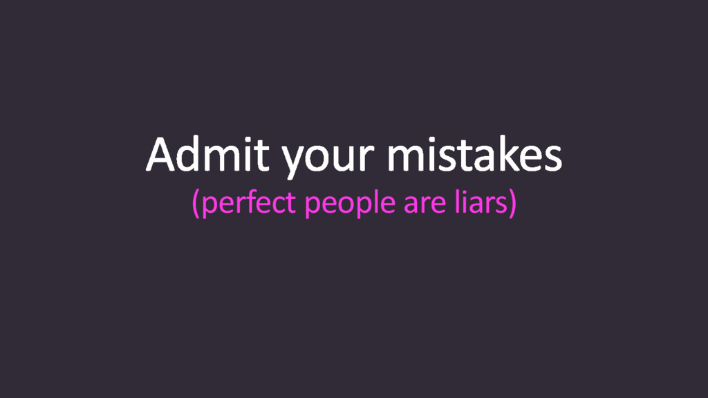 (perfect people are liars)