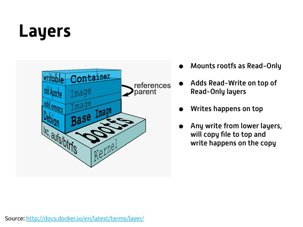Layers Source: http://docs.docker.io/en/latest/...