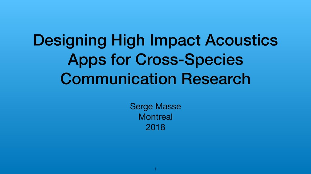 Designing High Impact Acoustics Apps for Cross-...
