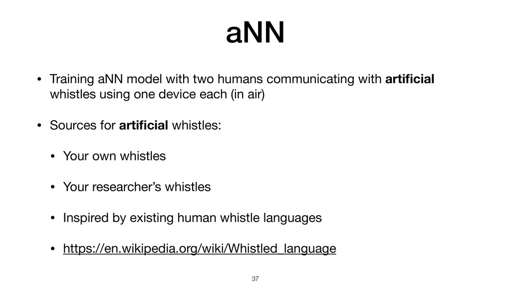 aNN • Training aNN model with two humans commun...