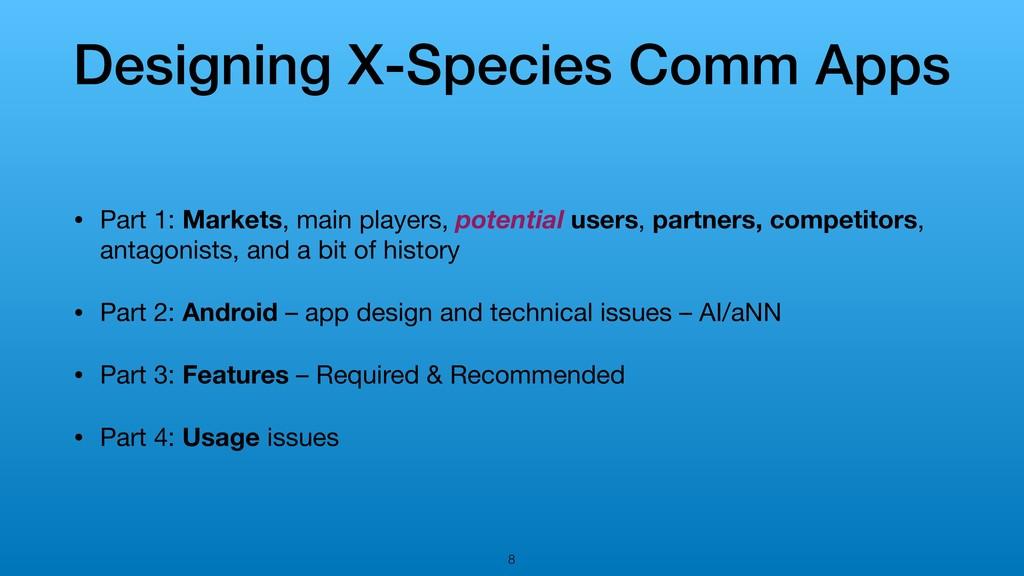 Designing X-Species Comm Apps • Part 1: Markets...