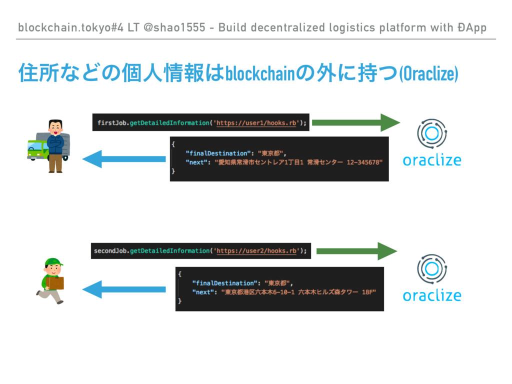 ॅॴͳͲͷݸਓใblockchainͷ֎ʹͭ(Oraclize) blockchain....