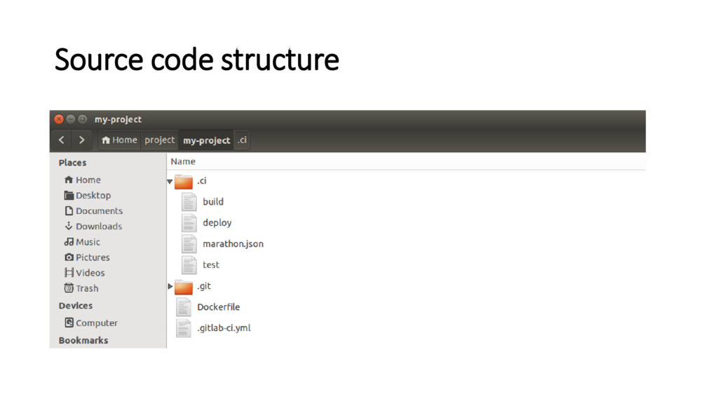 Source code structure