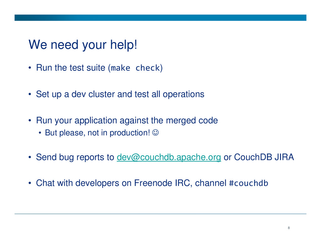 We need your help! • Run the test suite (make c...