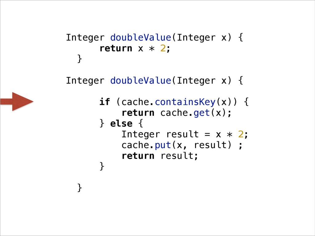 Integer doubleValue(Integer x) { return x * 2; ...
