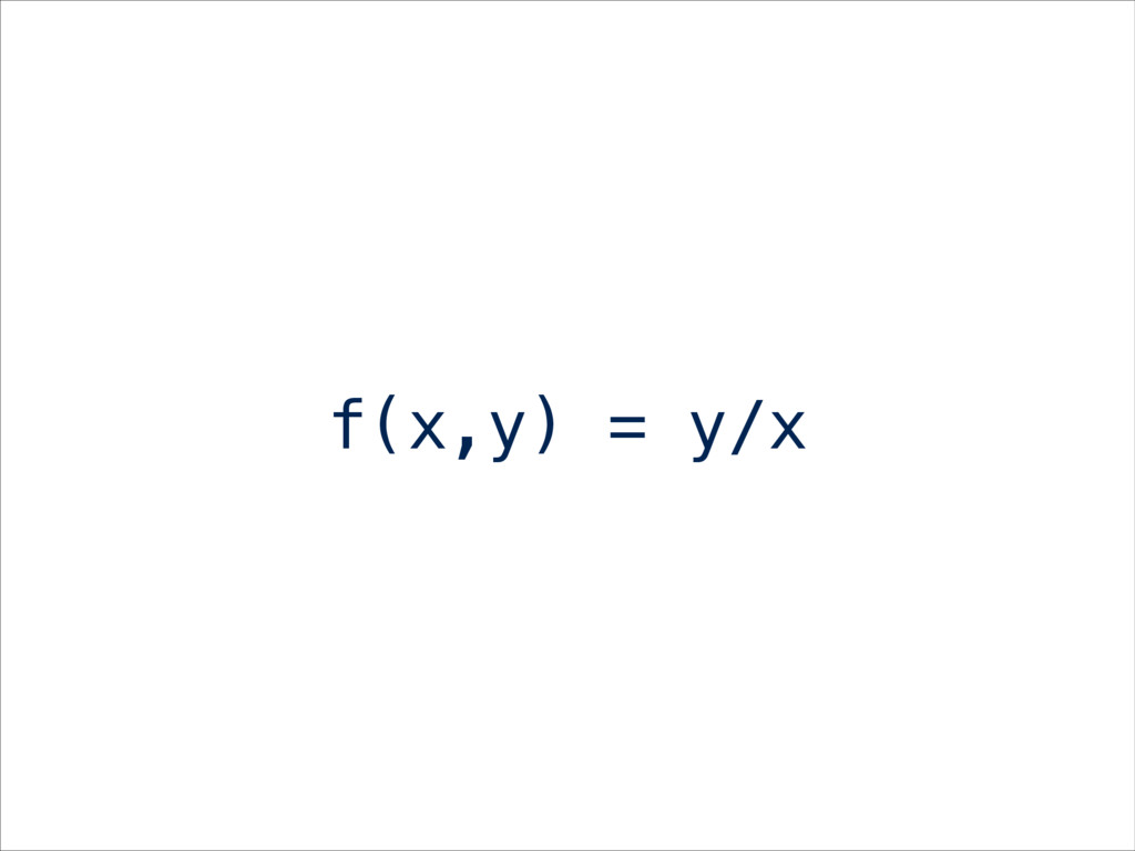 f(x,y) = y/x