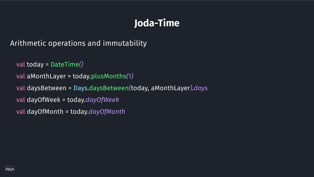 Joda-Time Arithmetic operations and immutabilit...