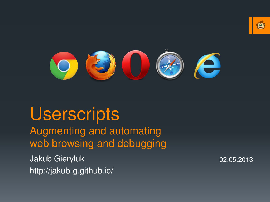 Userscripts Augmenting and automating web brows...