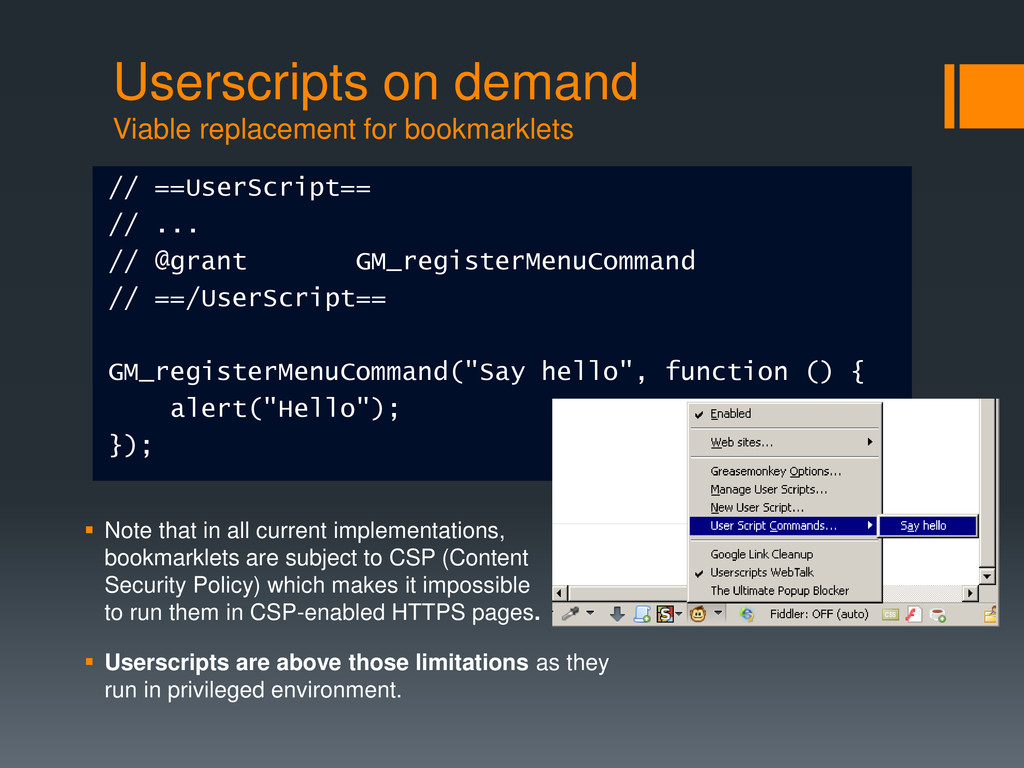 Userscripts on demand Viable replacement for bo...