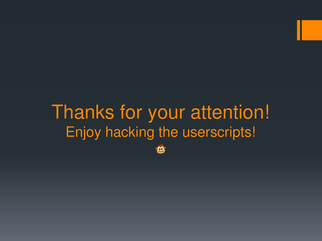 Thanks for your attention! Enjoy hacking the us...