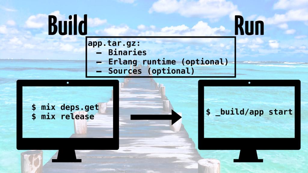 Build Run $ mix deps.get $ mix release $ _build...