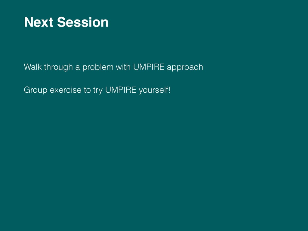 Next Session 
