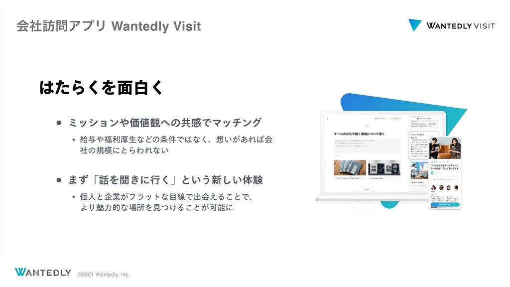 ©2021 Wantedly, Inc. ձࣾ๚ΞϓϦ Wantedly Visit