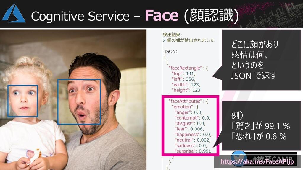 Cognitive Service – Face (顔認識) https://aka.ms/F...