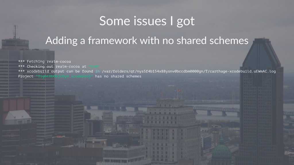 Some%issues%I%got Adding&a&framework&with&no&sh...