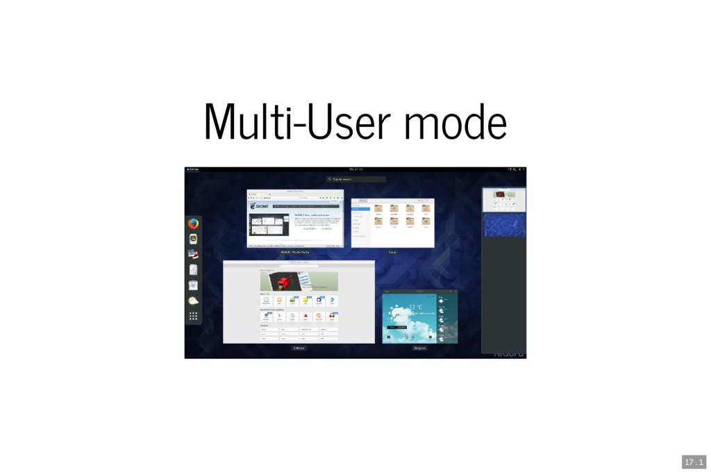 Multi-User mode 17 . 1
