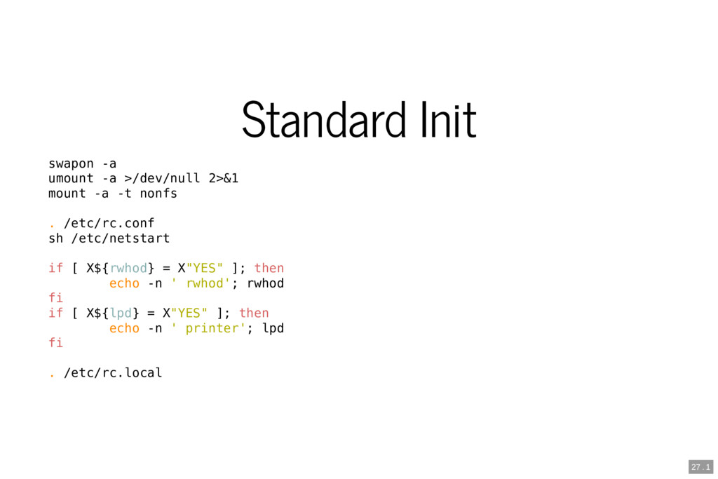 Standard Init swapon -a umount -a >/dev/null 2>...