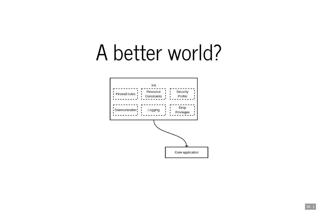 A better world? 38 . 1