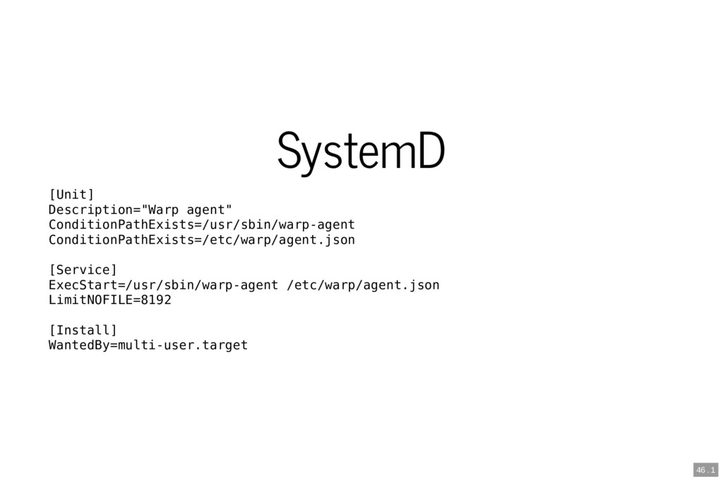 """SystemD [Unit] Description=""""Warp agent"""" Conditi..."""