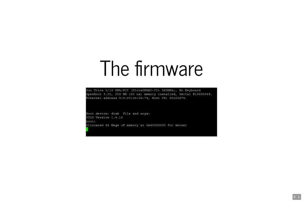 The rmware 6 . 1