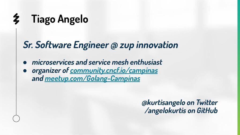 Tiago Angelo Sr. Software Engineer @ zup innova...