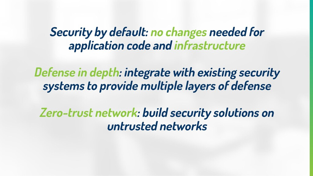 Security by default: no changes needed for appl...