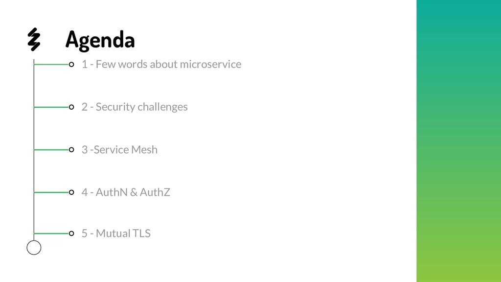 Agenda 1 - Few words about microservice 4 - Aut...