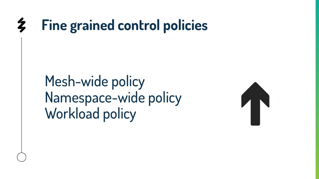 Fine grained control policies Mesh-wide policy ...
