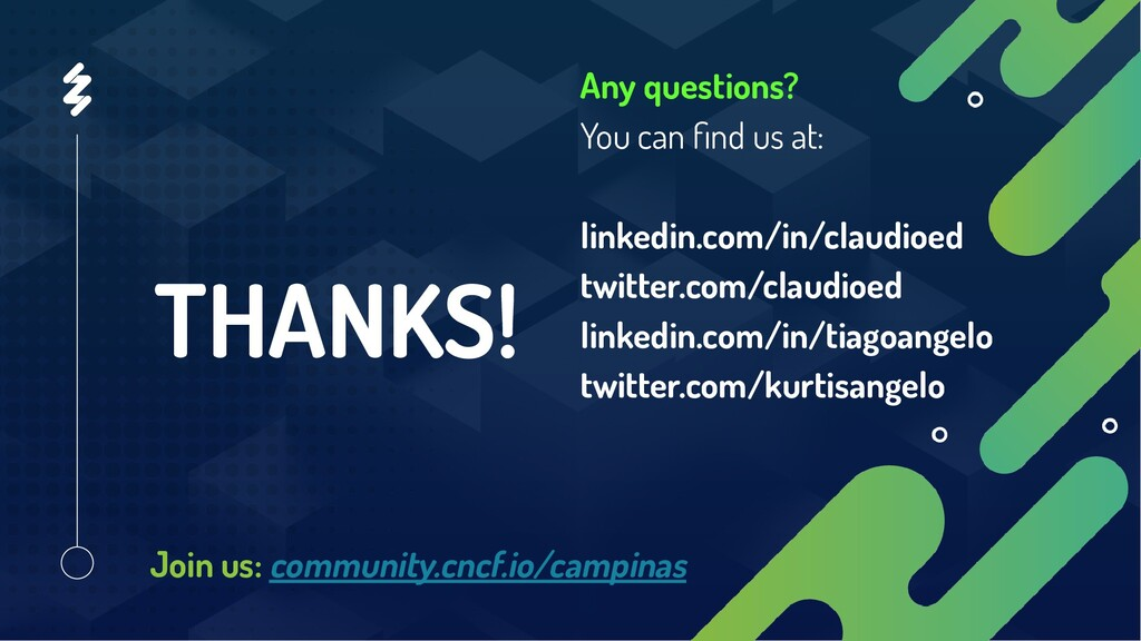 THANKS! Any questions? You can find us at: linke...