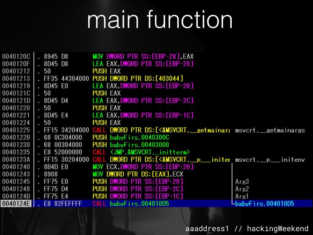 aaaddress1 // hackingWeekend main function