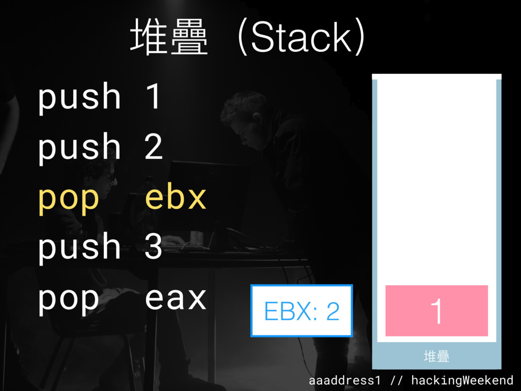 aaaddress1 // hackingWeekend 堆疊(Stack) 堆疊 堆疊 pu...