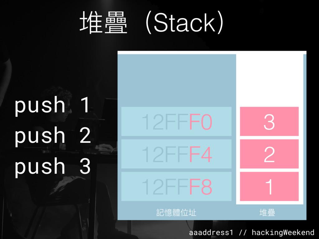aaaddress1 // hackingWeekend 堆疊(Stack) 堆疊 堆疊 1 ...
