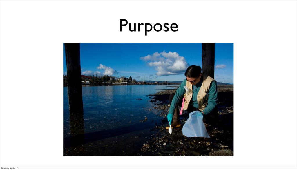 Purpose Thursday, April 4, 13