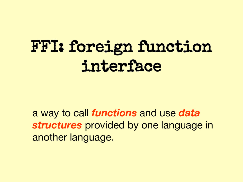 a way to call functions and use data structures...