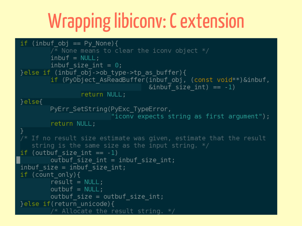 Wrapping libiconv: C extension