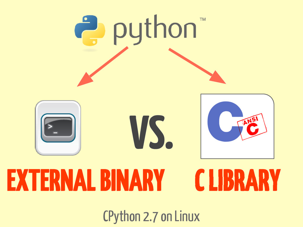 CPython 2.7 on Linux EXTERNAL BINARY C LIBRARY ...