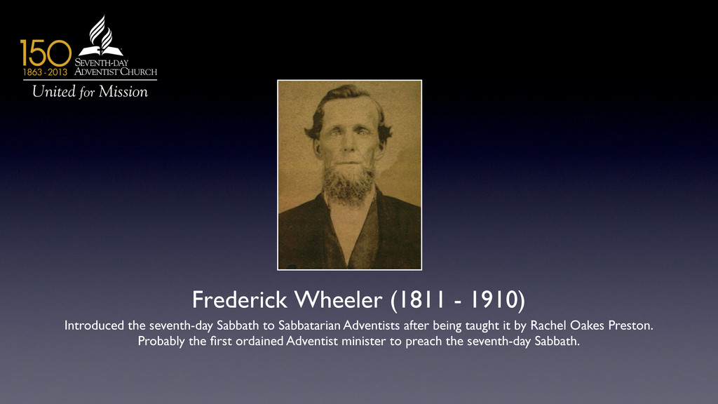 Frederick Wheeler (1811 - 1910)  Introduced t...