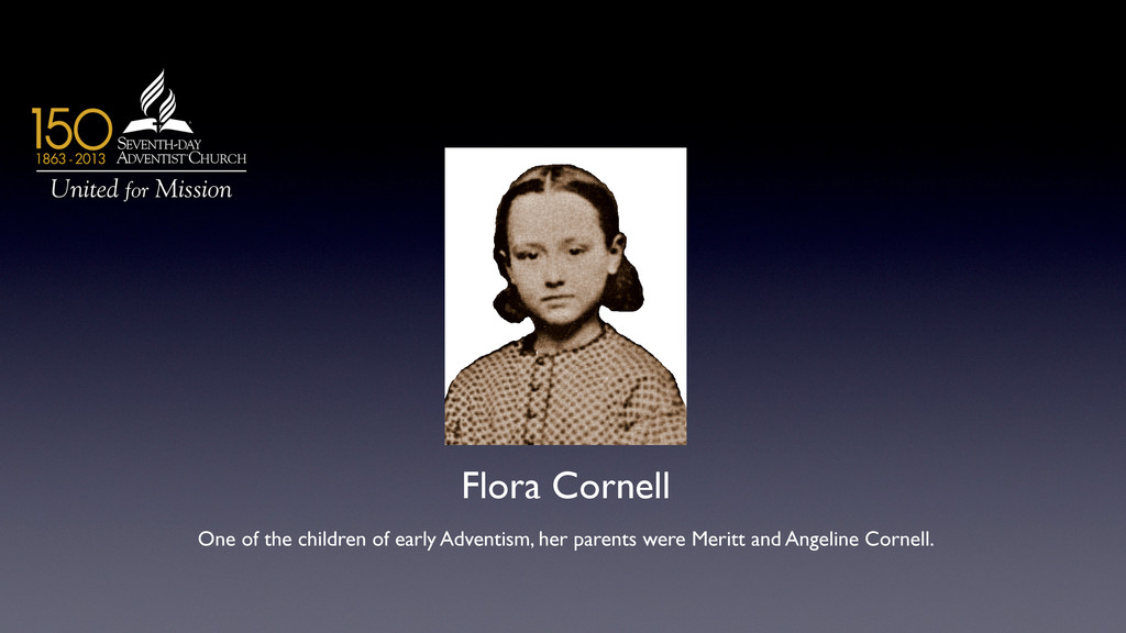 Flora Cornell  One of the children of early A...