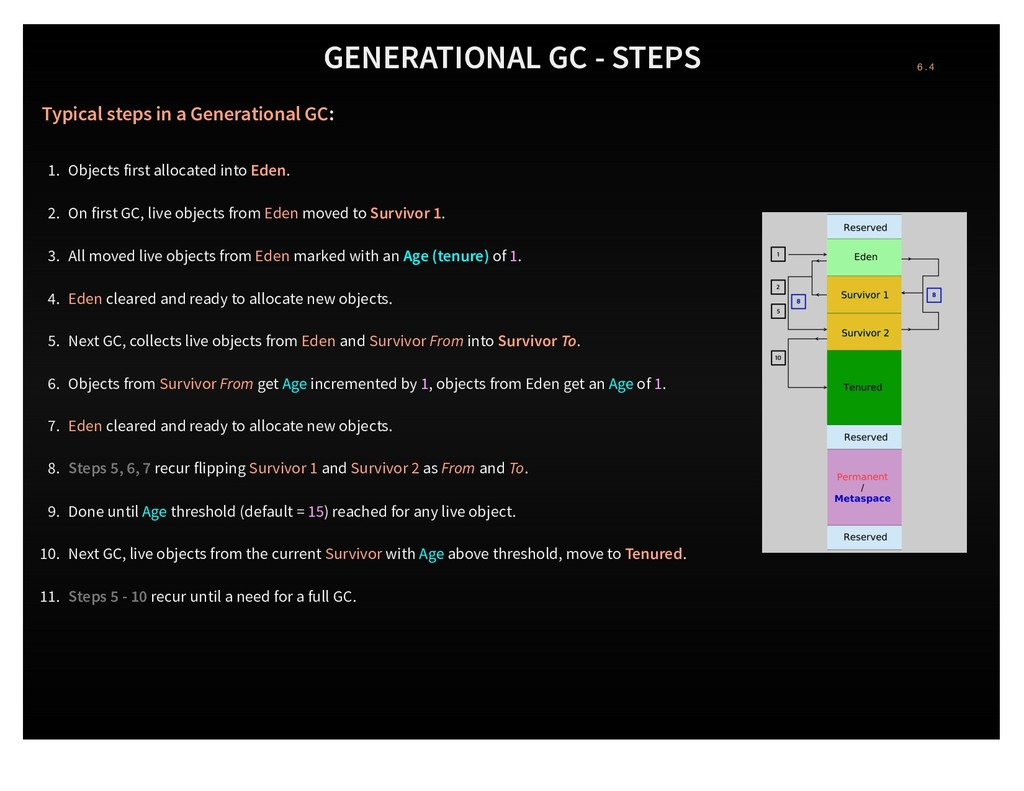 GENERATIONAL GC - STEPS Typical steps in a Gene...