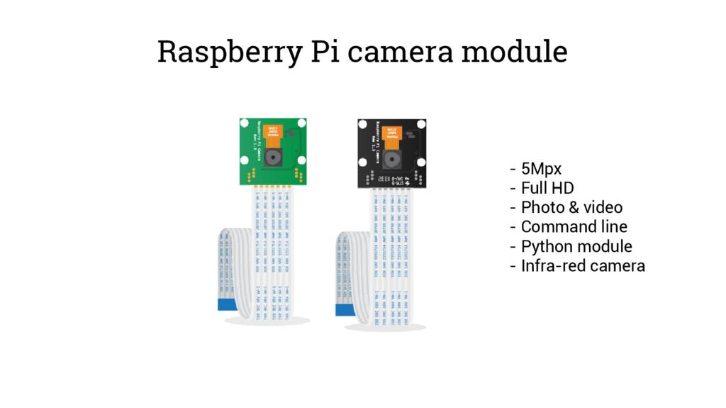 Raspberry Pi camera module - 5Mpx - Full HD - P...