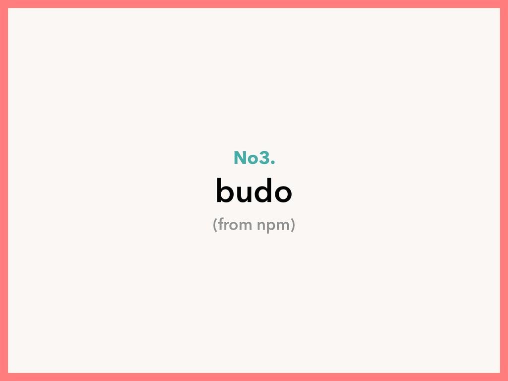 No3. budo (from npm)