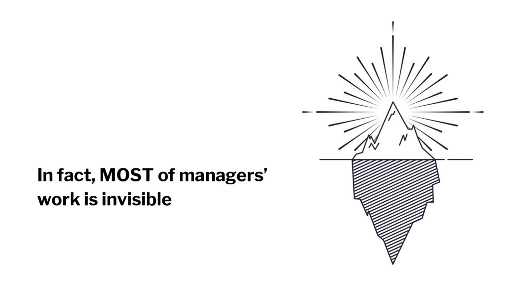 In fact, MOST of managers' work is invisible