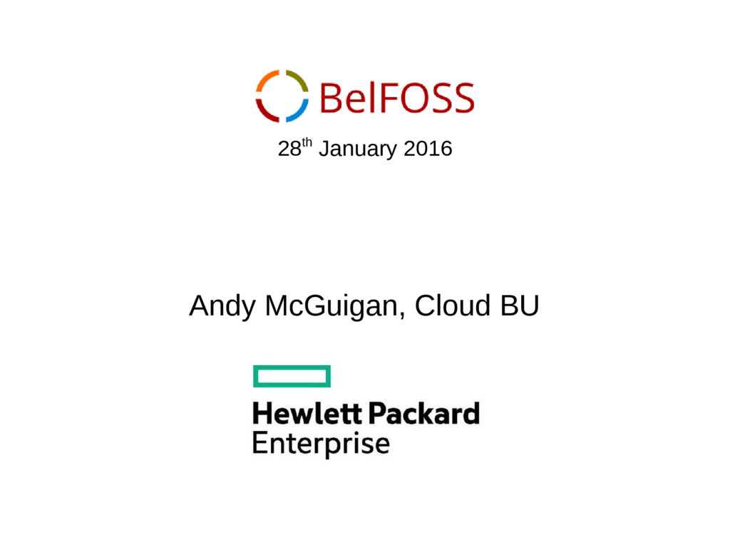 Andy McGuigan, Cloud BU 28th January 2016
