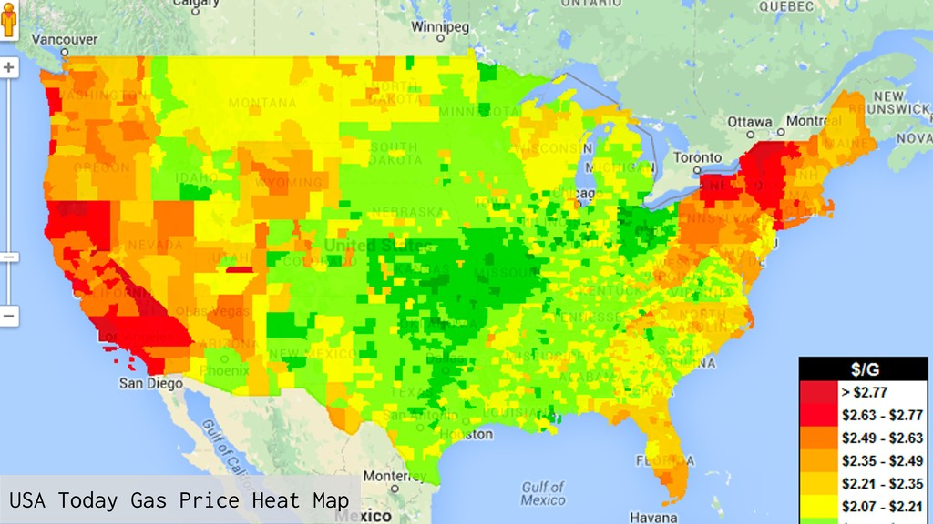 USA Today Gas Price Heat Map